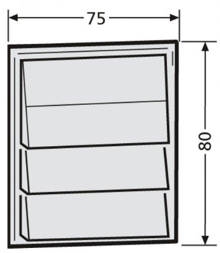 ReNZ Tastenmodul mit 3 Klingeltaster weiß RENZ Nummer 97-9-85271