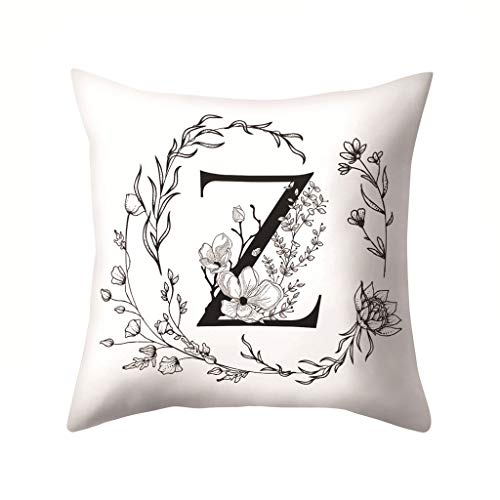 jieGorge Letters Pattern Kissenbezug Sofa Autokissenbezug Throw Pillow Home Decoration, Kissenbezug für Ostertag (Z)