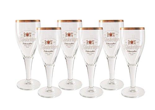 6 original Köstritzer Schwarzbier 0,3l Gläser Pokale
