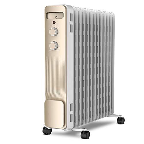 Radiador Eléctrico Radiadores rellenos de aceite Calentadores de 13 capas Calentador eléctrico portátil de interior, regulación de temperatura de tres niveles, hasta 2200W, para la sala de uso radiado