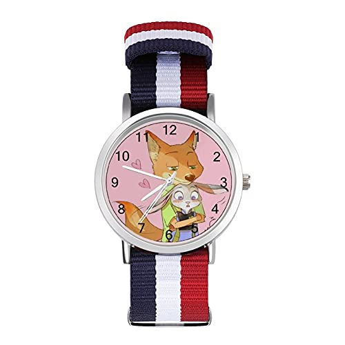 Zootropolis Reloj de ocio para adultos, moderno, bonito y personalizado, de aleación, casual, deportivo, para hombres y mujeres
