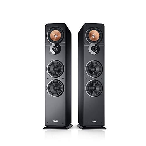 Teufel Ultima 40 Schwarz Stereo Lautsprecher Musik Sound Hochtöner Mitteltöner Bass Speaker High End HiFi Tieftöner Schalldruck Soundanlage