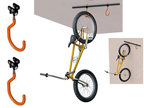 Soporte para Bicicletas al Techo o Pared Homologado hasta 60 Kg y 2 Ganchos 3272
