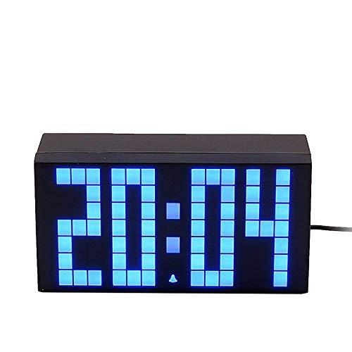 XINR Reloj de pared electrónico del silencio de Digitaces con la fecha del calendario de la temperatura