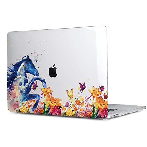 BatiandaMacBookPro13インチ2016201720182019ハードケースシェルカバーNewMacBookPro13CaseTouchBarカバー(A2159/A1706/A1989)ダストプラグ防塵カバー+JIS日本語キーボードカバー付きノートパソコン保護スキン(油絵の馬)