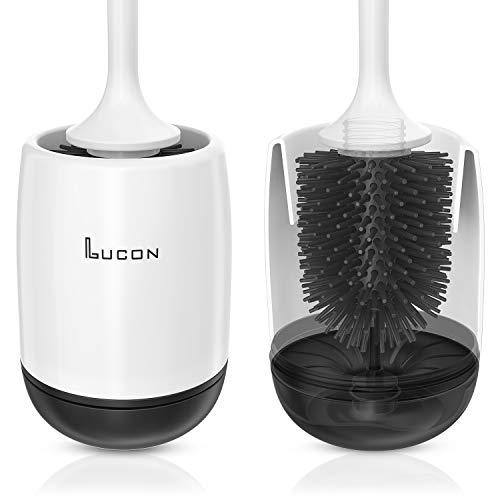 LUCON® Brosse WC de qualité supérieure en silicone avec effet lotus - Brosse WC en silicone + support mural