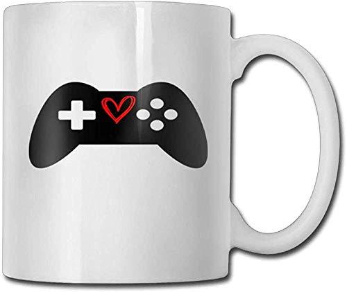 Taza de cerámica con texto en inglés «I Love Gaming Coffeee» de 11 onzas. Un regalo perfecto para tu familia y amigos.