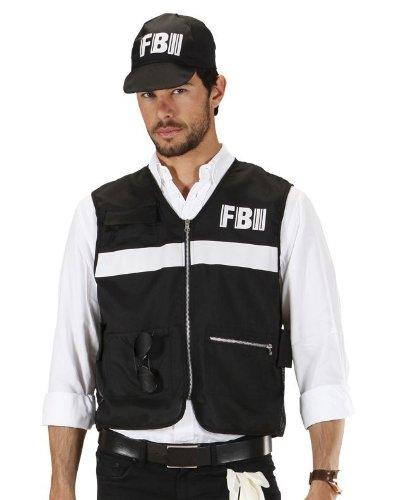 Widmann - Kostümset FBI, Weste mit Hut