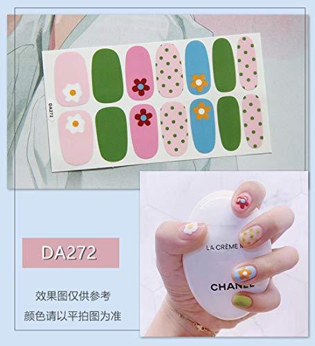 BGPOM Nail Sticker Avocado Full Sticker Strawberry Rainbow Cat Eye Waterproof Nail Polish Sticker 10 Pieces/Set,DA272