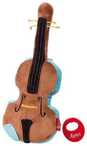 sigikid, Mädchen und Jungen, Spieluhr Geige mit austauschbarem Spielwerk, Babyspielzeug, empfohlen ab 0 Monaten, braun, 42285