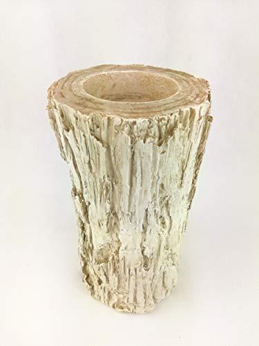 Deko Kerzenhalter Baumstamm BIRKE creme für Teelicht