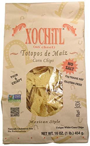 Xochitl Corn Chips, 16 - Bags, No Salt, 144 Oz, (Pack of 9)
