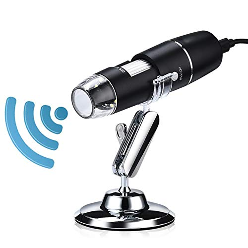 ICQUANZX WiFi Digital Microscope Wireless 50X to 1000X Zoom Magnification Mini Handheld Endoscope Inspection HD Camera 8 LED Light, Compatible with iPhone iPad Android Smartphone Mac Windows