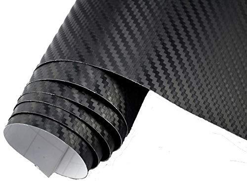 4,5€/m² 3D Carbon Folie SCHWARZ BLASENFREI meterware 200 x 152 cm Klebefolie Wrapping