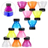 ZOCONE 12 Packs Soda Can Lids Covers Spill-proof Bottle Tops for Soda, Beer, Juice, Energy Drinks, BPA-free Reusable Fizz Lids, Picnic Accessories Beach Party Gadgets
