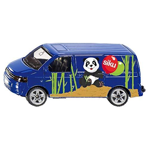 siku 1338, VW Transporter, Metall/Kunststoff, Blau, Öffenbare Heckklappe, Spielzeugauto für Kinder
