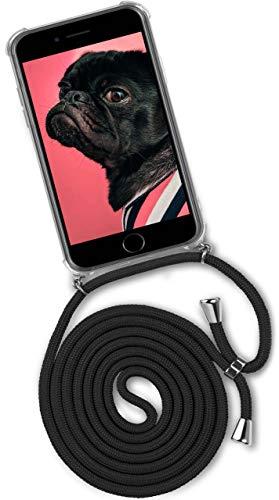 ONEFLOW® Handykette kompatibel mit iPhone 7 / iPhone 8 - Handyhülle mit Band zum Umhängen Case Abnehmbar Smartphone Necklace - Hülle mit Kette, Schwarz