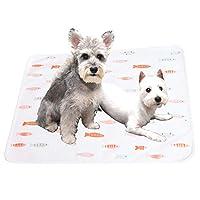 犬用マットで眠ることができます。機械で洗うことができます。防水毛が付いていません。秋冬の猫の寝床は四季通用です (100*70cm, 小鱼)