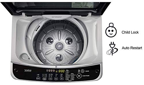 LG 6.2 kg Inverter Fully-Automatic Top Loading Washing Machine ( T7288NDDLG.ASFPEIL, Middle Free Silver)
