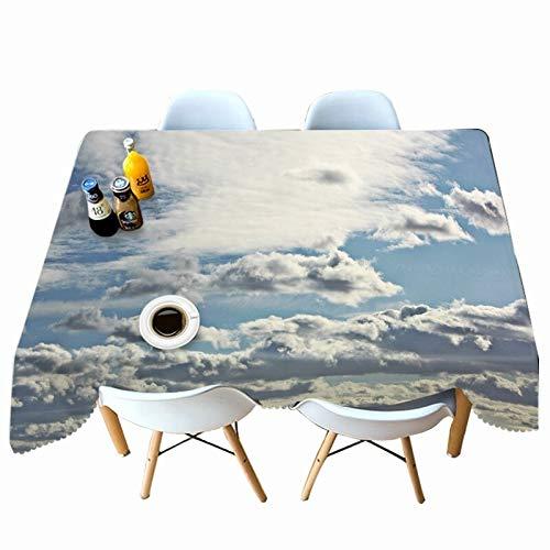 XXDD Rectángulo de Mantel con patrón de Paisaje de Lago 3D para Mesa de Comedor de Cocina Mantel Impermeable y a Prueba de Polvo A5 140x200cm