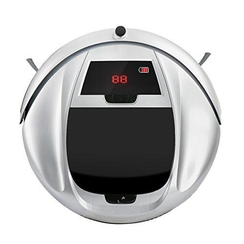 EVERTOP Aspirapolvere Robotico Casa per la Pulizia dei Pavimenti con 4 Modalità di Pulizia, Sensori Anti-Caduta, Filtro tipo-HEPA, Robot auto Ricarica per Pelo Animale e Allergeni
