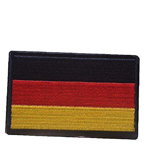 Zonfer 3D Bordado Insignia del Brazal, Alemania Parche Bandera, Bandera De Rayas Apliques