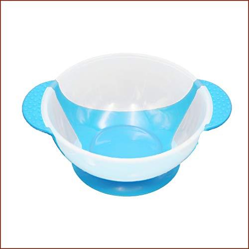 WXZQ Babygeschirr Geschirr Saugnapf Neugeborene Babynahrung Babynahrungsschalen Blau