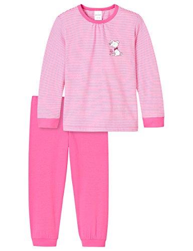 Schiesser Mädchen Original Classics Md lang Zweiteiliger Schlafanzug, Rot (pink 504), 104