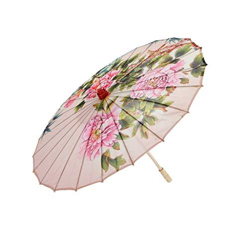 LOVIVER Paño De Seda Hecho A Mano Chino Oriental Paraguas Danza Parasol...