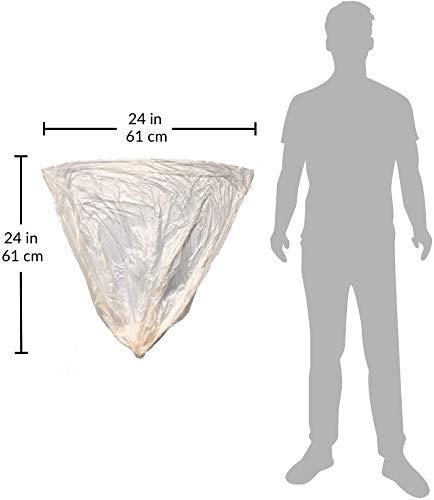 Reli. 6-10 Gallon Trash Bags (1000 Count, Bulk) - Trash Can Liners - 7 Gallon - 8 Gallon - 10 Gallon Trash Bags - Trash Can Liners / Garbage Bags (6 Gal, 7 Gal, 8 Gal, 10 Gal in Bulk), Clear