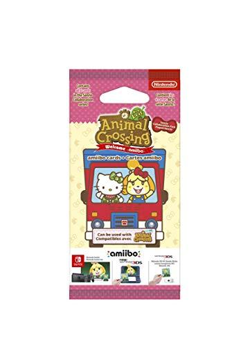 Nintendo - Pack 6 Tarjetas Amiibo Animal Crossing, Hello Kitty