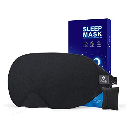 Mavogel Cotton Sleep Eye Mask - Updated Design Light Blocking Sleep Mask, Soft and Comfortable Night Eye Mask for Men Women, Eye...