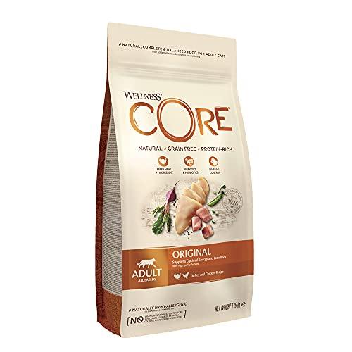 Wellness CORE Alimento seco para Gatos sin Granos, Pavo Original y Pollo, 1,75 kg