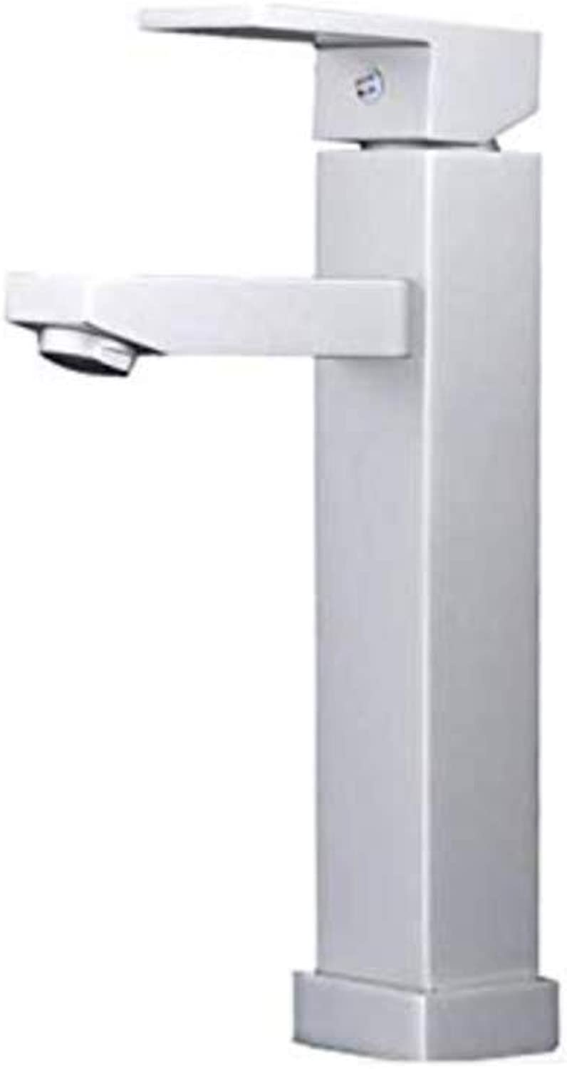 Faucethot and Cold Basin Faucet Copper Household Bathroom Wash Basin Basin Space Aluminum Single Hole Heightening