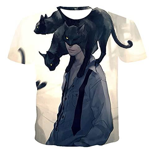 SSBZYES Camisetas para Hombre Camisetas De Talla Grande De Verano para Hombre Camisetas De Manga Corta con Patrones Pintados a Mano Camisetas Casuales Camisetas De Manga Corta con Impresión Digital