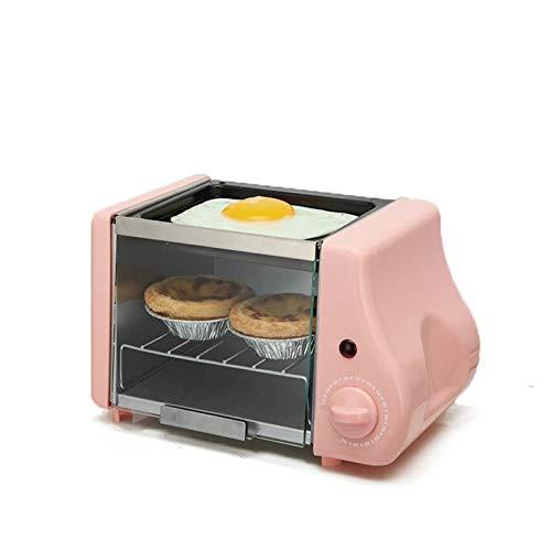 WZPG Inicio 2 en 1 Máquina de Desayuno, Mini Mini Banea eléctrica Asada, Dormitorio Estudiantil Pequeño Poder Poder Huevo Tarta Pan Mini Horno/Panar Frito