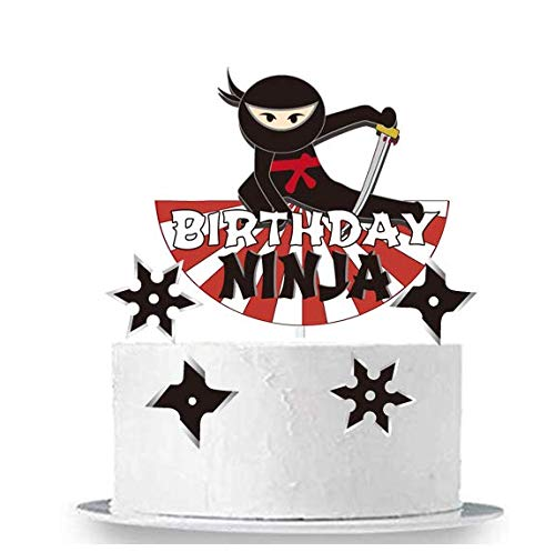 GmakCeder Happy Birthday Ninja Cake Topper