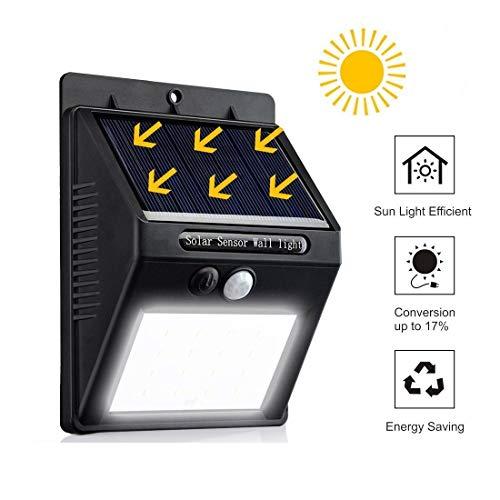 QUANHAO Solarlampen für Außen 20 LED Solarleuchte Außen mit Bewegungsmelder IP65 Solar Beleuchtung 270°Superhelle Solarlicht 3 Modi Solarleuchten Garten (1 pcs)