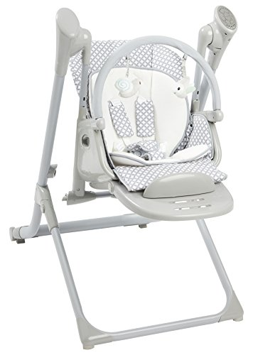 Buy Discount Primo 2-in-1 Smart Voyager Convertible Infant Swing and High Chair with Bluetooth, Grey
