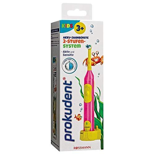 Prokudent Kids Akku-Zahnbürste 1 Stück 2-stufigen-System, aktiv und sensitiv, 4-Zonen-Timer