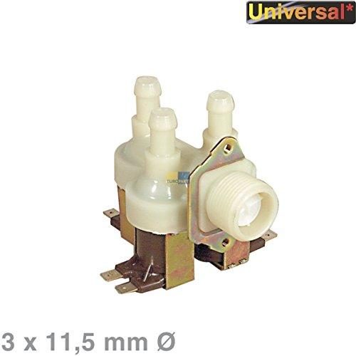 Magnetventil Einlaufventil Füllventil Ventil 3fach 90° 11,5mmØ Waschmaschine Spülmaschinen Universal Eudora Elin