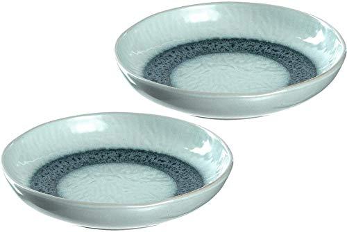 platos de cerámica hondos juego de2platos de comedor con esmalte aptos para lavavajillas2 lozas redondas