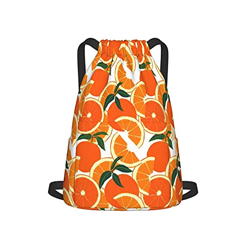 Mochila con cordón para deporte, gimnasio, compras, deporte, yoga, color naranja