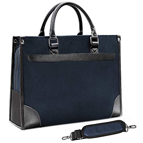 NEWHEY Laptop bag 15.6 inch WaterRepellent Briefcase Shoulder Messenger Bag Laptop Case Computer Bag Business Carrying Handbag for Men Women Blue