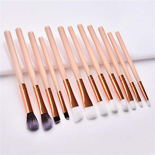 Yener 10st Make-up kwastenset Zak Foundation Poeder Oogschaduw Make-upborstels Makeup Cosmetische gereedschappen, groen