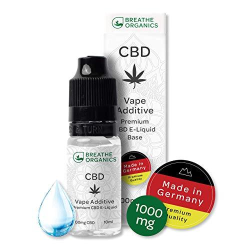Premium CBD Liquid Base von Breathe Organics®   Liquid Base für E-Zigaretten 1000 mg CBD aus Deutschland   1000 mg Cannabidiol   Menge 10 ml   100{e495fb4048ba1758bf550ecb0e76ccead65620ed6369f62d4720764db0c7a8ea} PG   nikotinfrei   Made in Germany