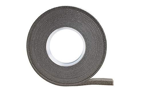Cinta de compresión 10/4, color gris, 8 m de largo, ancho del rollo: 10 mm, ancho de junta: 4-14 mm, cinta selladora para juntas, cinta de retención.