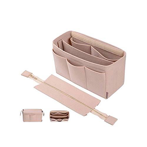 Luluspace Taschen Organisator Filz für Frauen Handtaschen, Filz Taschenorganizer Bag in Bag Handtaschenordner Organizer für Handtaschen (Beige, M)