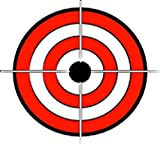 Bullseye Target Crosshairs RED Black White Vinyl Decal Sticker Two in One Pack (4 Inches Wide)