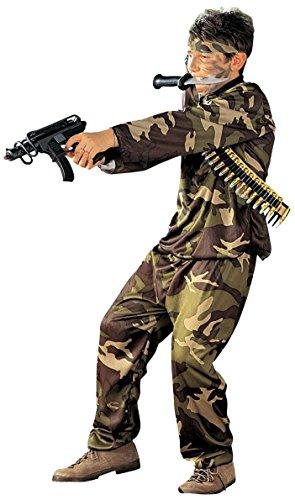 Disfraz de carnaval para niño de las Fuerzas especiales, de camuflaje * 19910 militare 11-13 años